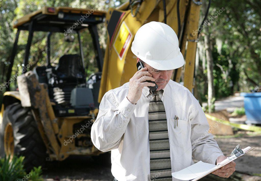 Planos de discussão do engenheiro — Fotografia de Stock