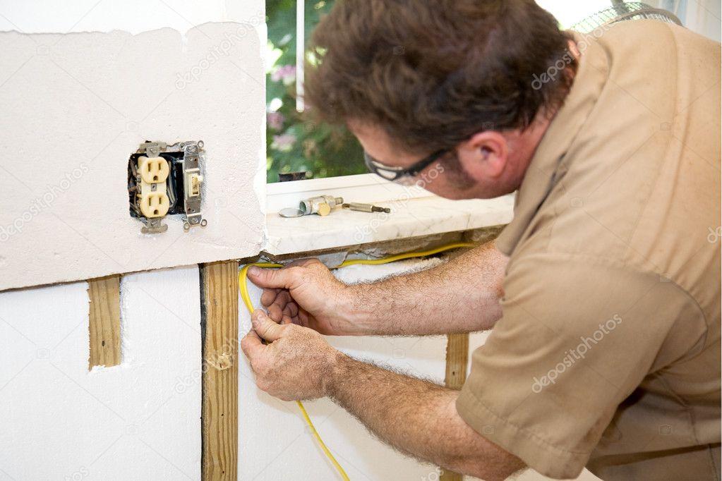 Elektriker-Verkabelung-Startseite — Stockfoto © lisafx #6684926