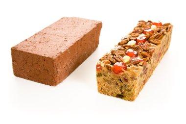 Fruitcake Brick Comparison