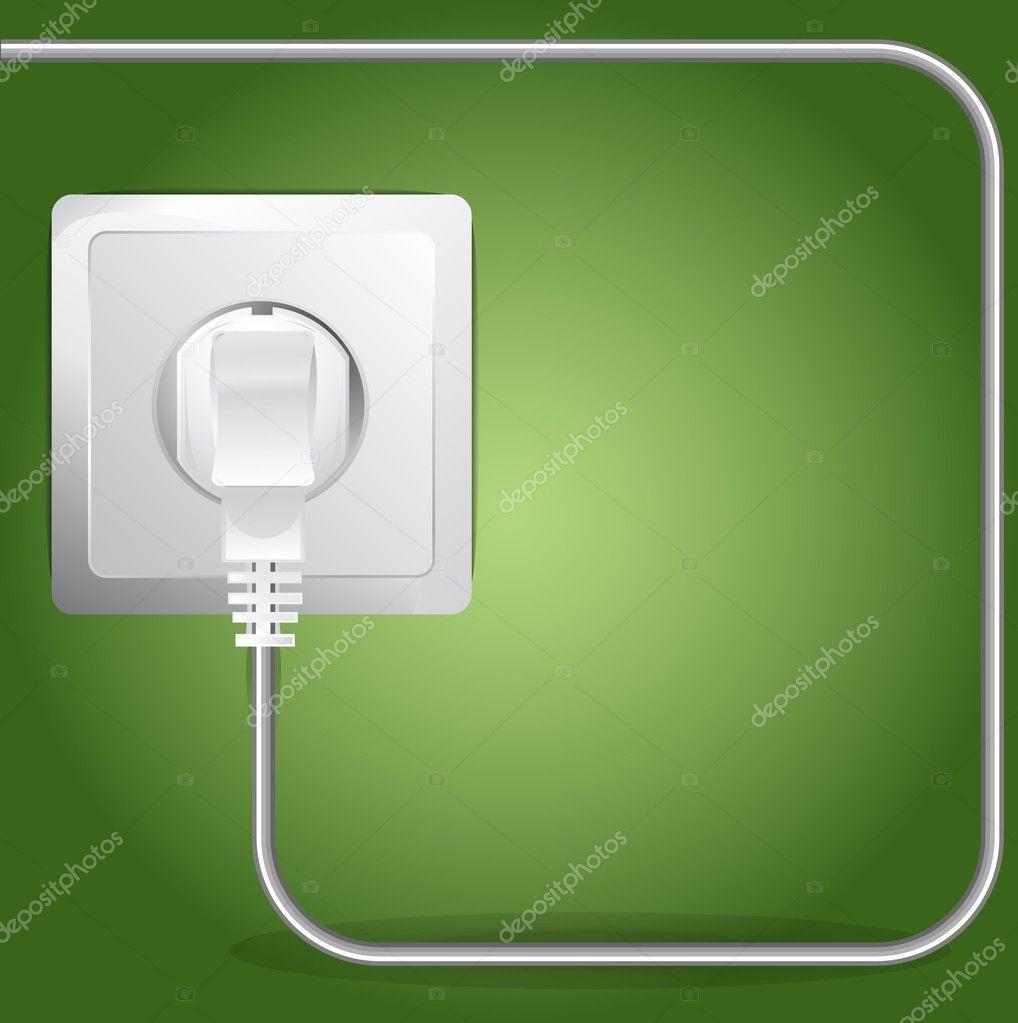Vektor angeschlossen elektrische Kabel-Hintergrund — Stockvektor ...