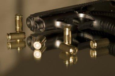 Small gas pistols for self-defense stock vector