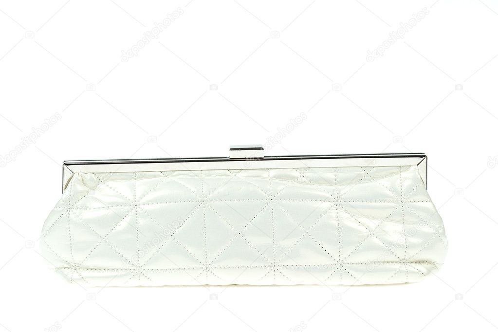 ca59fb8f The women clutch bag isolated on white background — Stock Photo ...