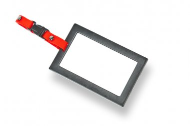 Tag, Blank badge with black frame