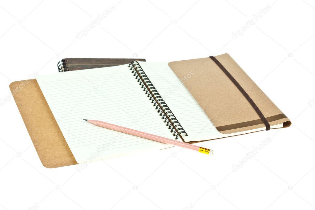 lápiz de color crema claro papel Nota Libro libro marrón — Fotos de ...