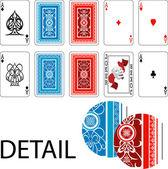 Fotografie Asse und Joker Spielkarte Rücken Spielkarten