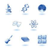 Fényes kategória oktatás web ikonok