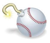Baseball odpočítávání bomba ilustrace