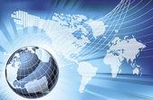 Globe szó Térkép föld háttér