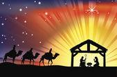 křesťanské vánoční betlém