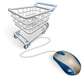 Online internet shopping concept