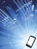 Mobiltelefon zenei aláfestés