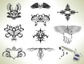 Photo Tattoo flash design elements