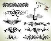 Photo Tattoo flash design elements
