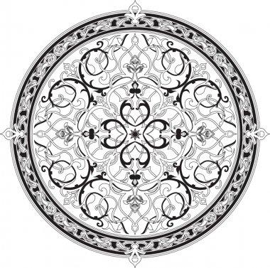 Arabic floral pattern motif Arabic floral pattern motif