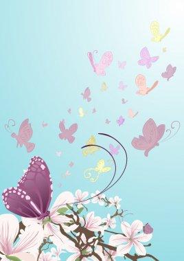 butterflies background illustration