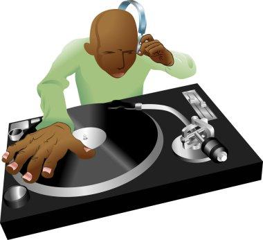 deejay mixing illustration