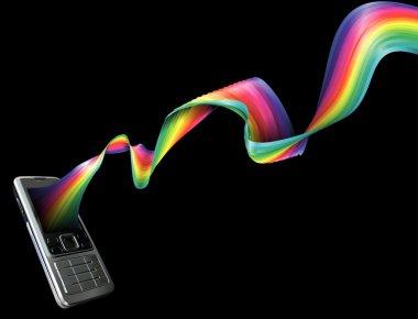 Phone rainbow background