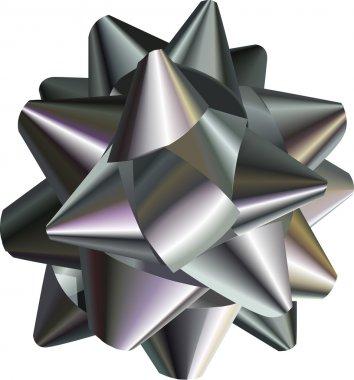 pretty silver bow