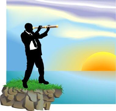 telescope business concept illustration