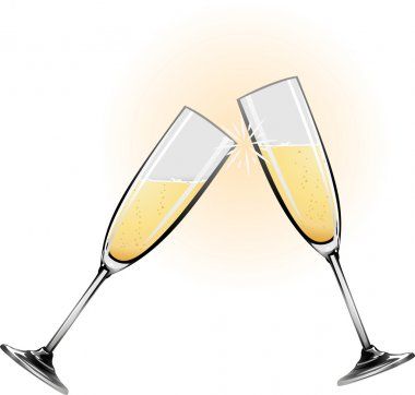 Illustration of champagne glasses