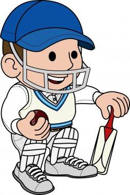 Illustration of cricketer