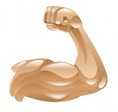 strong muscular arm Illustration