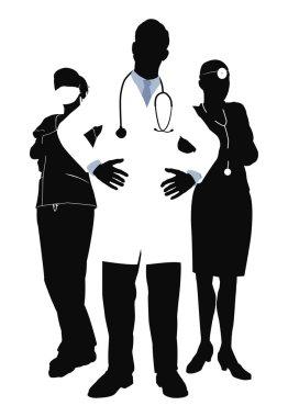 Medical team illustration
