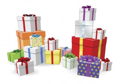 Stacks of presents concept