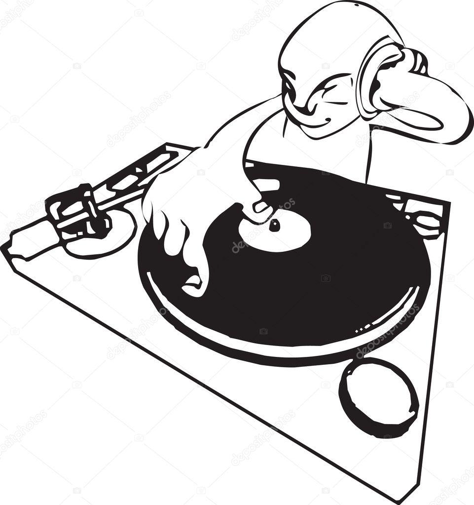 Funky dj illustration — Stock Vector © Krisdog #6574851