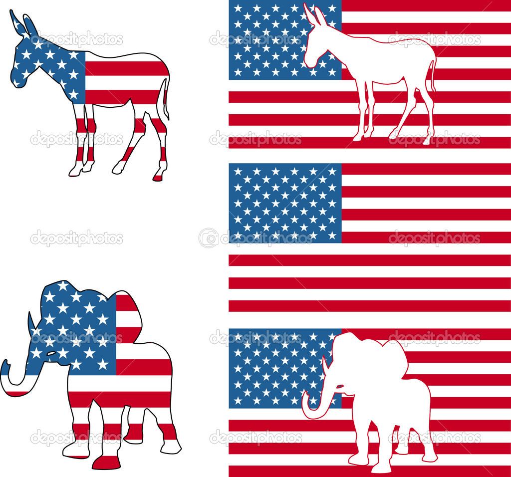 Usa Political Party Symbols Stock Vector Krisdog 6575250