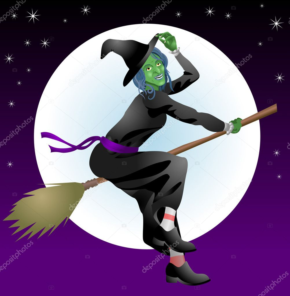 Scary Halloween witch — Stock Vector © Krisdog #6576197