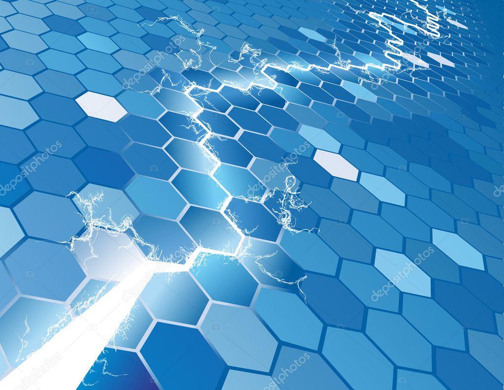 Electric Hexagon Background Concept