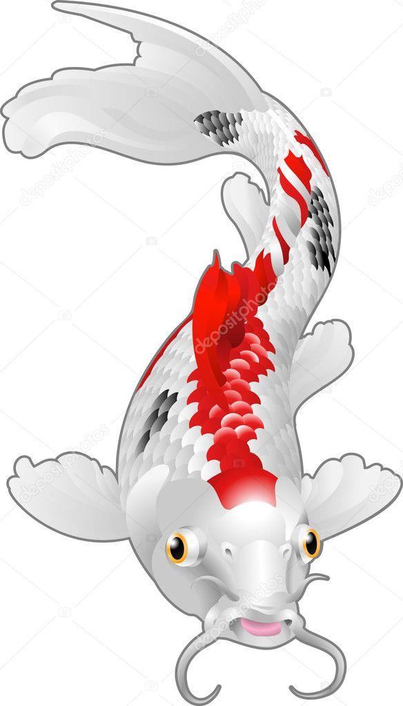 koi karpfen oriental fisch stockvektor krisdog 6577602. Black Bedroom Furniture Sets. Home Design Ideas