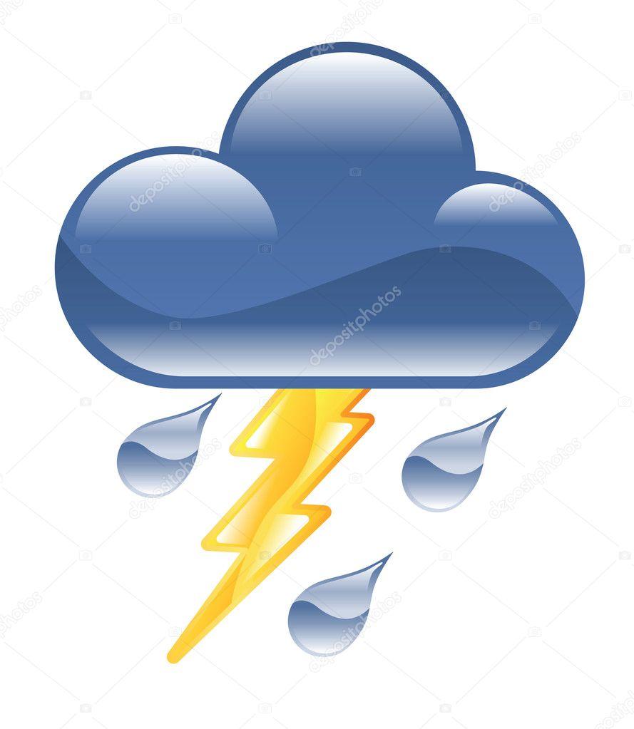 Lightning Storm Illustration Stock Vector