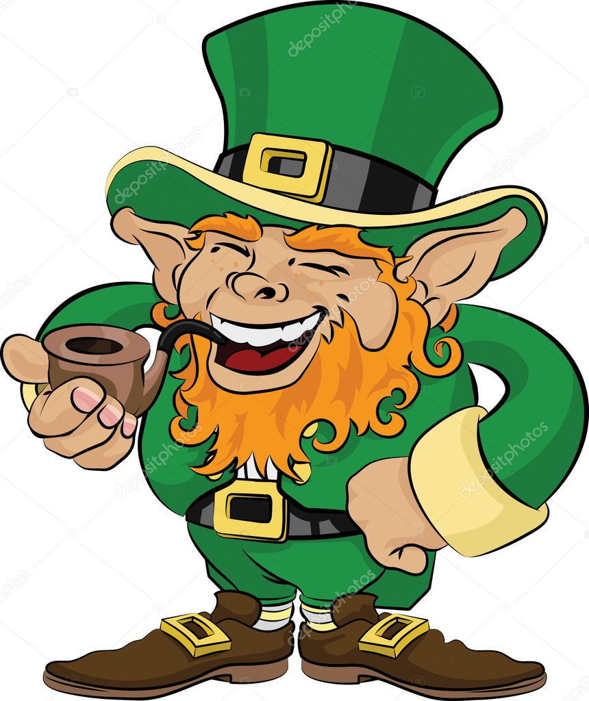 illustration of st patrick u0027s day leprechaun u2014 stock vector
