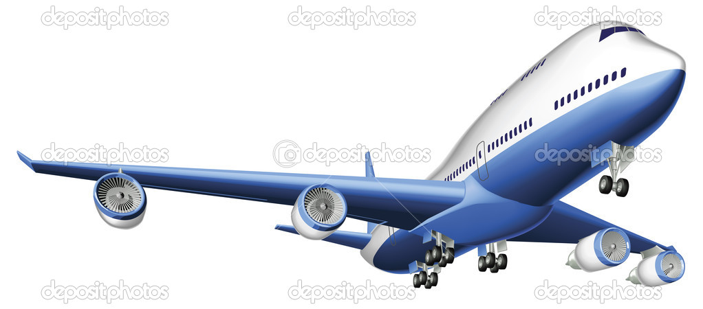 Illustration of a large passenger plane