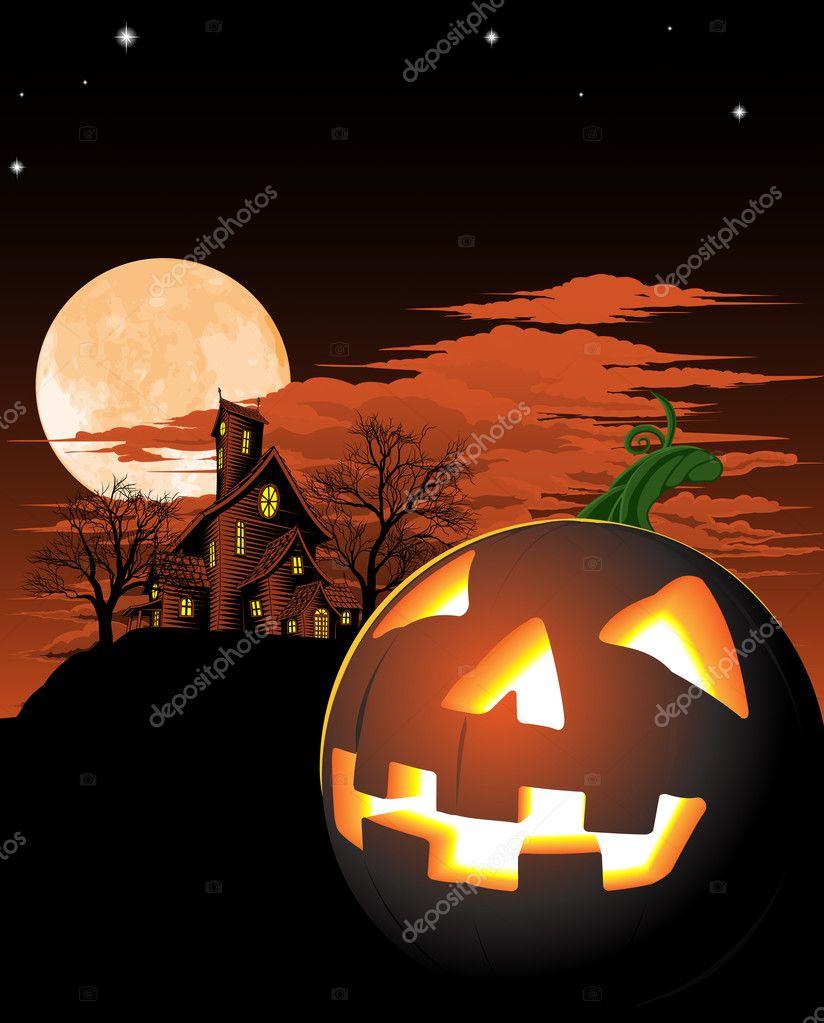 Immagine Zucca Di Halloween 94.Sfondo Di Zucca Di Halloween Vettoriali Stock C Krisdog 6579421