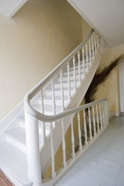 Staircase With Curved Handrail