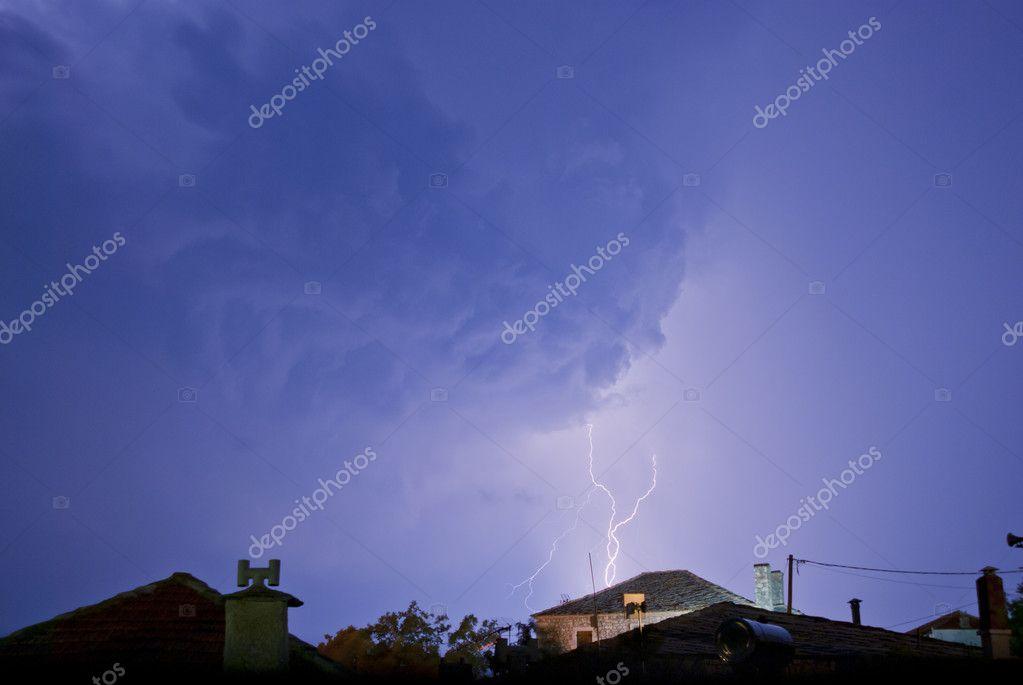 Lightning Strikes In Small Village