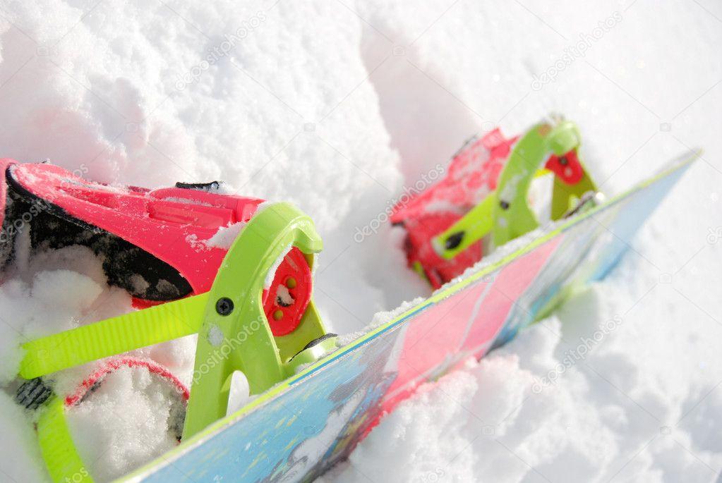 Colorful Snowboard & Binding