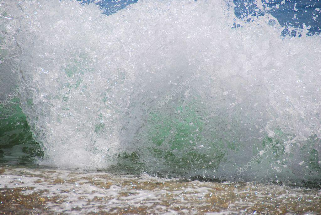 Breaking Wave Crashing On Beach