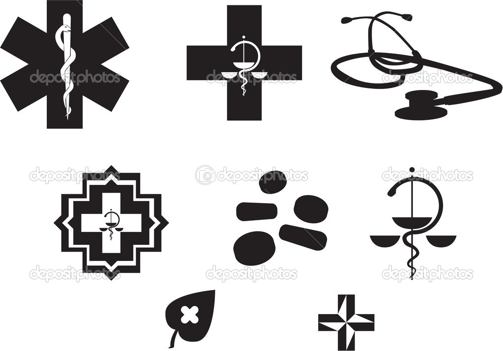 Medical Symbols Stock Vector I3alda 6453591