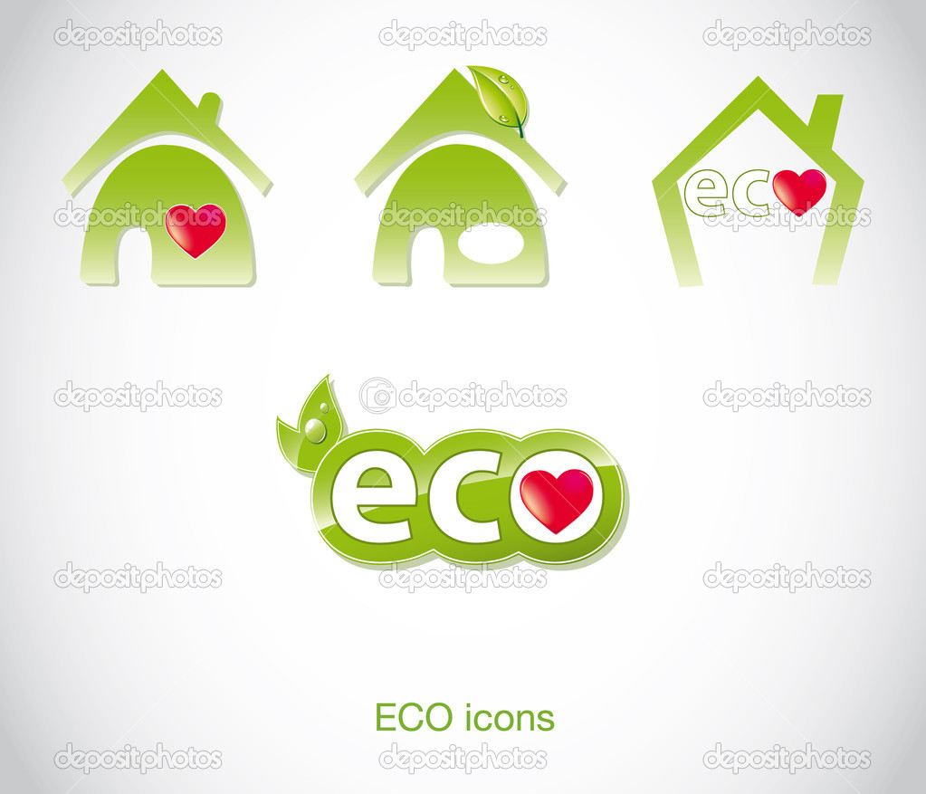 Vector icons: eco & bio