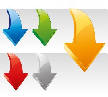 Vector arrow stickers set