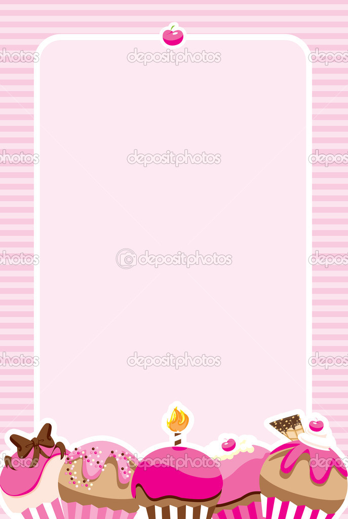 Cupcake girls invitemenu stock photo angeliquedesign 6526434 pretty pink invitation design perfect for a birthday party of baby shower for a girl or a cute recipe card for your favorite cupcake flavors stopboris Choice Image
