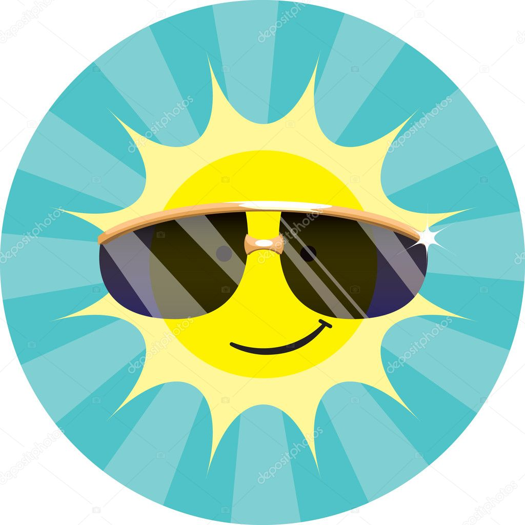 Cool Sun Wearing Sunglasses