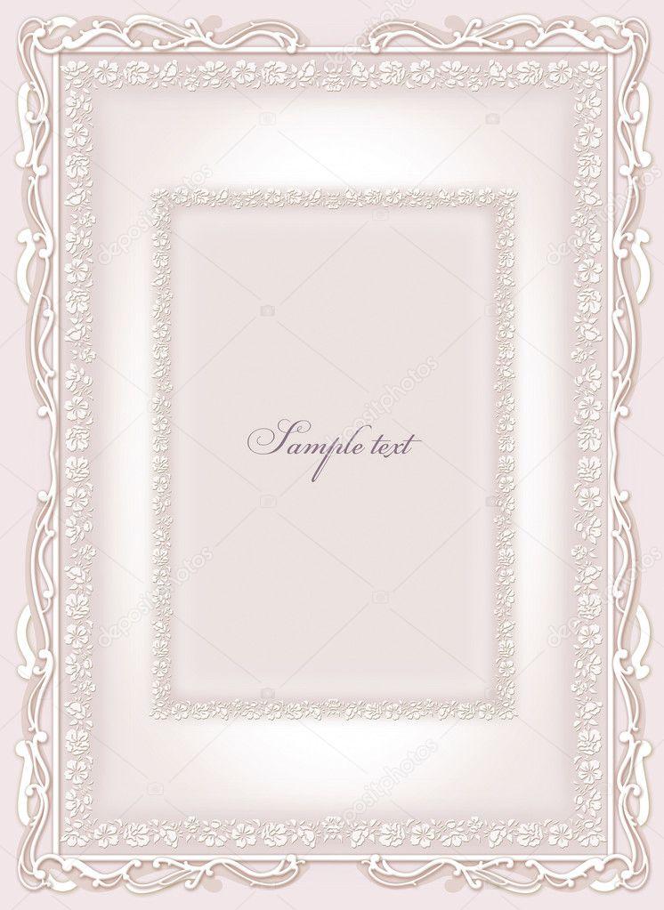 invitación de boda, marco — Foto de stock © art321 #6450096
