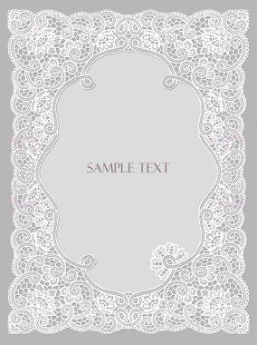 Wedding invitation, frame lace