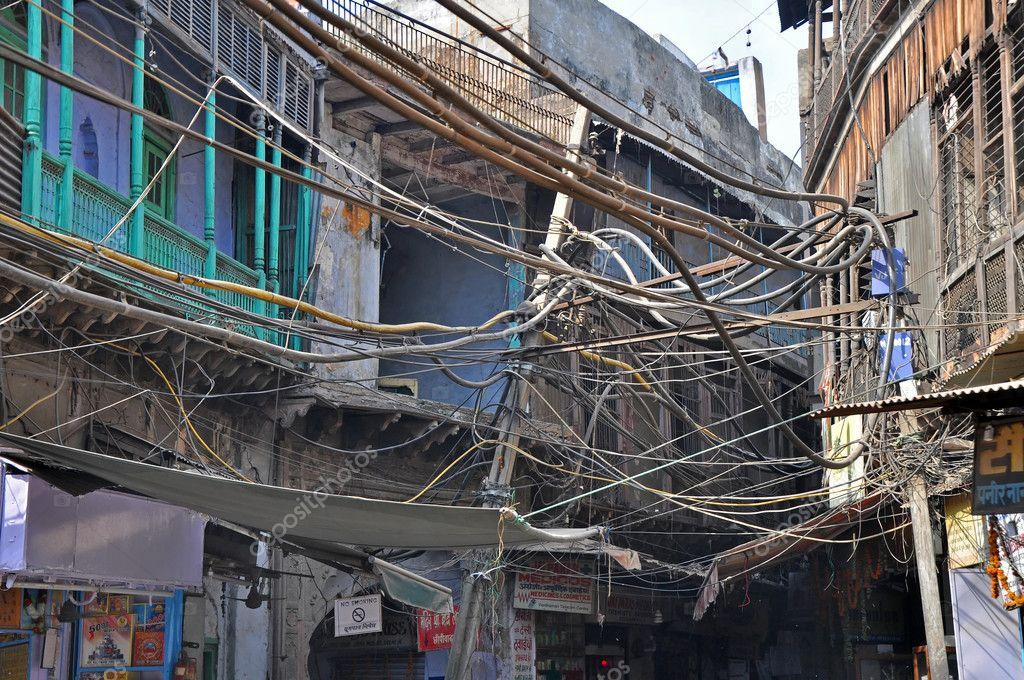 elektrische Verdrahtung in Indien — Stockfoto © johnnydevil #6510807
