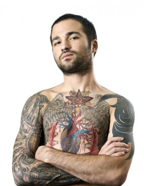 Guy with a tattoo posing